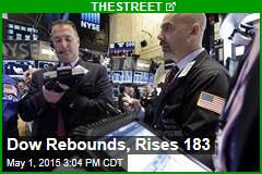 Dow Rebounds, Rises 183