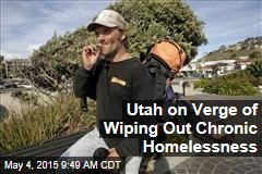 Utah on Verge of Wiping Out Chronic Homelessness