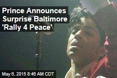 Prince Announces Surprise Baltimore 'Rally 4 Peace'