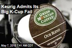 Keurig Admits Its Big K-Cup Fail