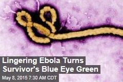 Lingering Ebola Turns Survivor's Blue Eye Green