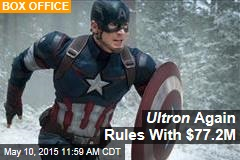 Ultron Again Rules With $77.2M