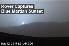 Rover Captures Blue Martian Sunset