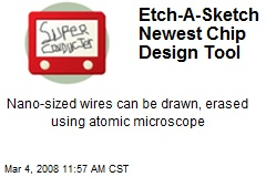 Etch-A-Sketch Newest Chip Design Tool