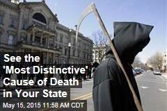 See the 'Most Distinctive' Cause of Death in Your State