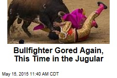 Bullfighter Gored Again, This Time in the Jugular