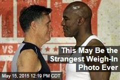 This May Be the Strangest Weigh-In Photo Ever