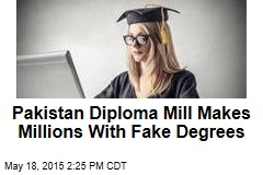 Pakistan Diploma Mill Makes Millions With Fake Degrees