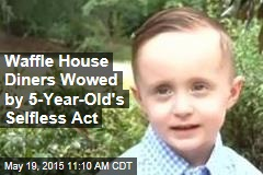 Waffle House Diners Wowed by 5-Year-Old's Selfless Act