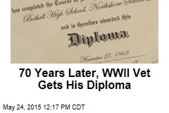 70 Years Later, WWII Vet Gets His Diploma