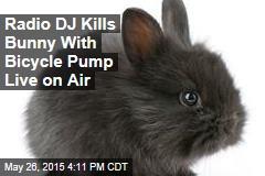 Radio DJ Kills Bunny With Bicycle Pump Live on Air