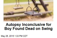 Autopsy Inconclusive for Boy Found Dead on Swing