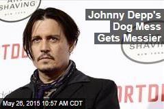 Johnny Depp's Dog Mess Gets Messier