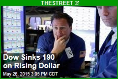 Dow Sinks 190 on Rising Dollar