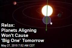 No, Planets Aligning Won't Cause a 9.8 Quake