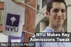 NYU Makes Key Admissions Tweak