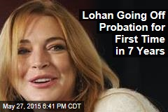 Lohan Going Off Probation for First Time in 7 Years