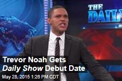 Trevor Noah Gets Daily Show Debut Date