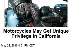 Motorcycles May Get Unique Privilege in California