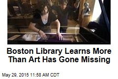 Gold Coins, Artwork Missing From Boston Library