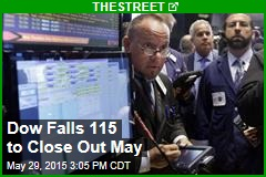 Dow Falls 115 to Close Out May