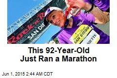 A 92-Year-Old Just Ran a Marathon