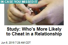 Study: Who's More Likely to Cheat in a Relationship