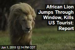 African Lion Jumps Through Window, Kills US Tourist: Report