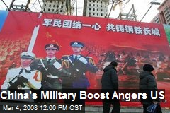 China's Military Boost Angers US