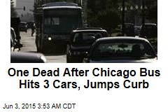 Chicago Bus Hits 3 Cars, Jumps Curb