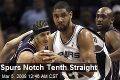 Spurs Notch Tenth Straight