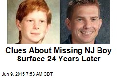 Clues About Missing NJ Boy Surface 24 Years Later