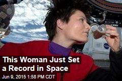 Record Set for Longest Space Jaunt by a Woman