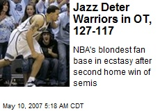 Jazz Deter Warriors in OT, 127-117