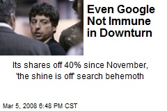 Even Google Not Immune in Downturn
