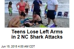 Teens Lose Left Arms in 2 NC Shark Attacks