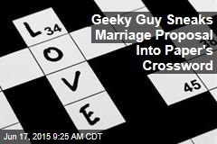 Geeky Guy Sneaks Marriage Proposal Into Paper's Crossword