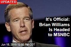 NBC Has a New Job for Brian Williams