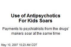 Use of Antipsychotics For Kids Soars