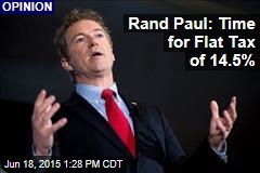 Rand Paul: Time for Flat Tax of 14.5%