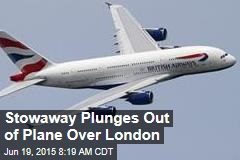 Stowaway Plunges Out of Plane Over London