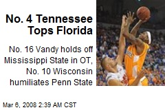 No. 4 Tennessee Tops Florida