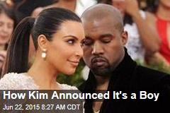How Kim Announced It's a Boy