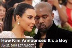 How Kim Announced It's a Boy