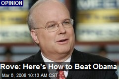 Rove: Here's How to Beat Obama