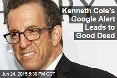 Kenneth Cole's Google Alert Leads to Good Deed