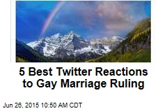 5 Best Twitter Reactions to Gay Marriage Ruling