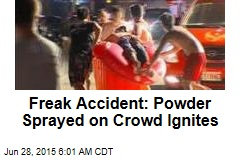 Freak Accident: Powder Sprayed on Crowd Ignites
