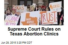 Supreme Court Rules on Texas Abortion Clinics