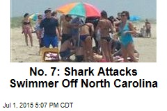 No. 7: Shark Attacks Swimmer Off North Carolina